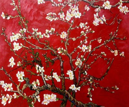 Van-gogh-branches-of-an-almond-tree-in-blossom-ruby-red