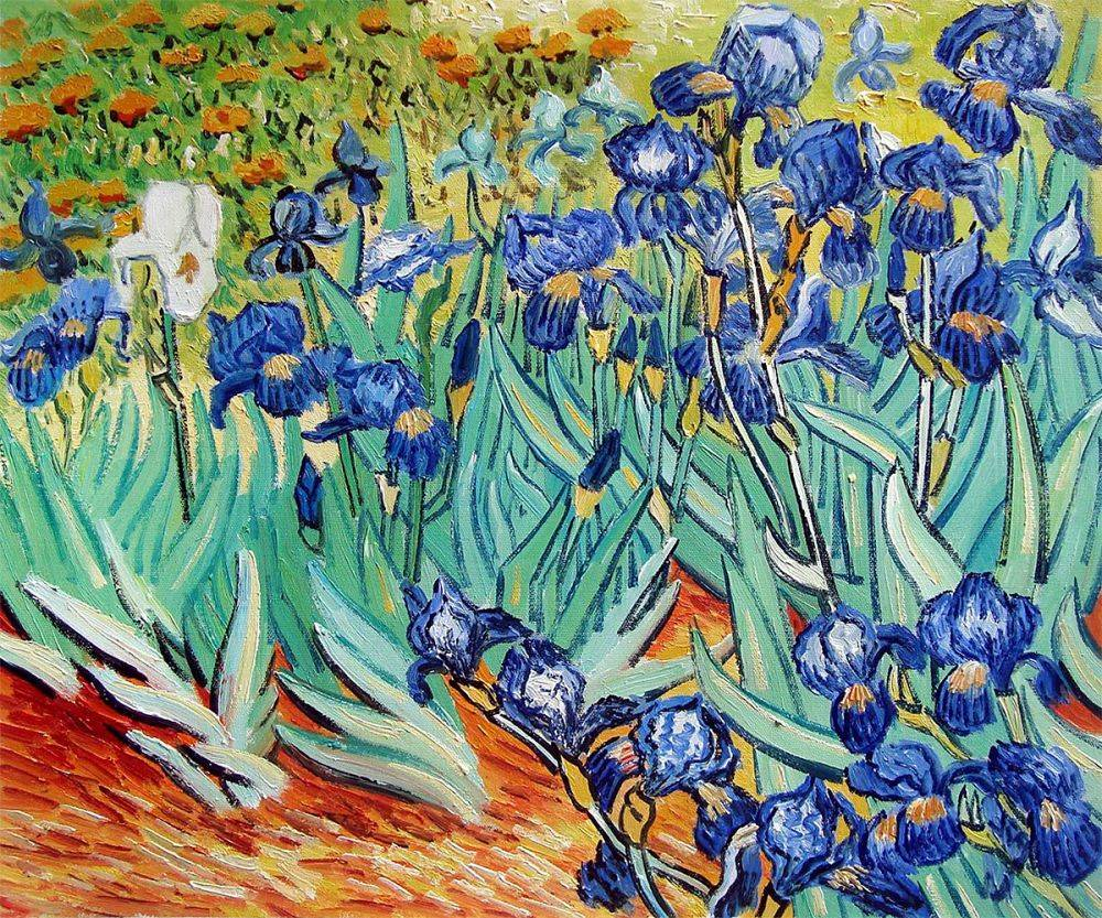 Van Gogh Museum Quality Reproduction Irises Hand Painted