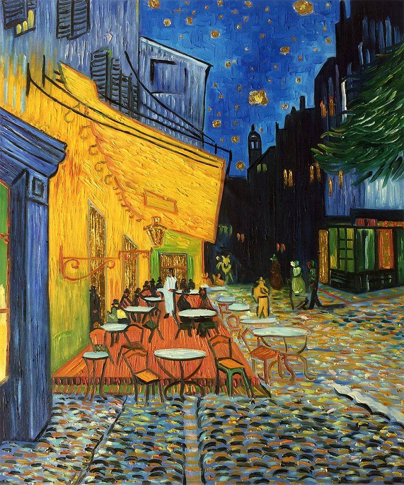 Van Gogh Museum Quality Reproduction Cafe Terrace At Night