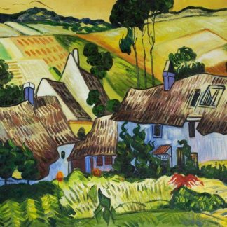 van-gogh-thatched-houses-against-a-hill