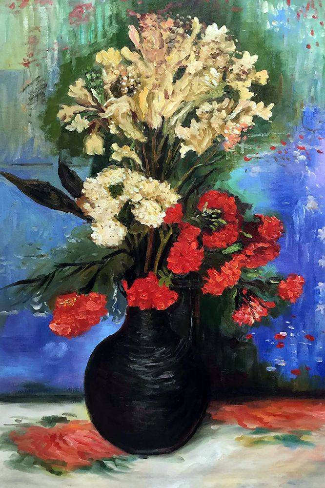 Van Gogh Museum Quality Reproduction Vase ... & Van Gogh Museum Quality Reproduction Vase with Carnations and other ...