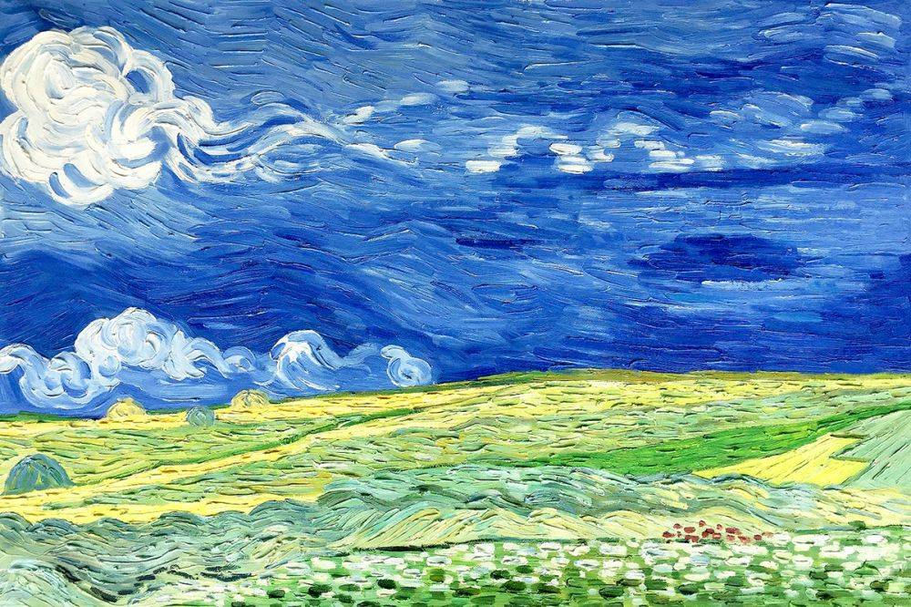 Van Gogh Museum Quality Reproduction Wheat Field Under